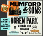 WIN tickets to Mumford & Sons!