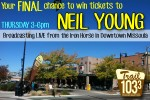 Final chance to win tickets to Neil Young!